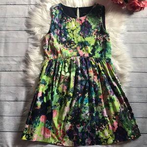 Zara Basic Watercolor Floral Dress